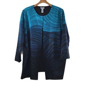 Catherines Black Blue Ombre Reversible Jacket